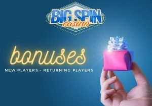 big spin casino offers bonuses to new and returning players
